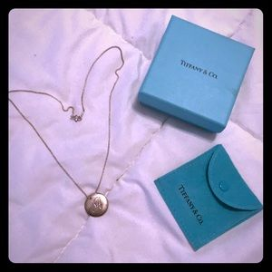 """Tiffany & co. Silver Initial necklace """"A"""""""